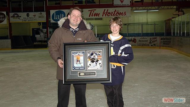 Remise du prix Crosby